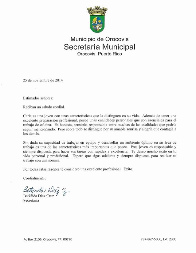 Carta De Recomendacion Para Trabajo Inspirational Carta De Re Endacion 4