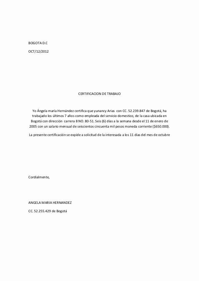 Carta De Recomendacion Para Trabajo Inspirational Carta Laboral