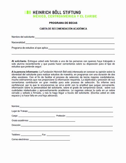 Carta De Recomendacion Para Trabajo Inspirational formato Para Carta De Re Endación