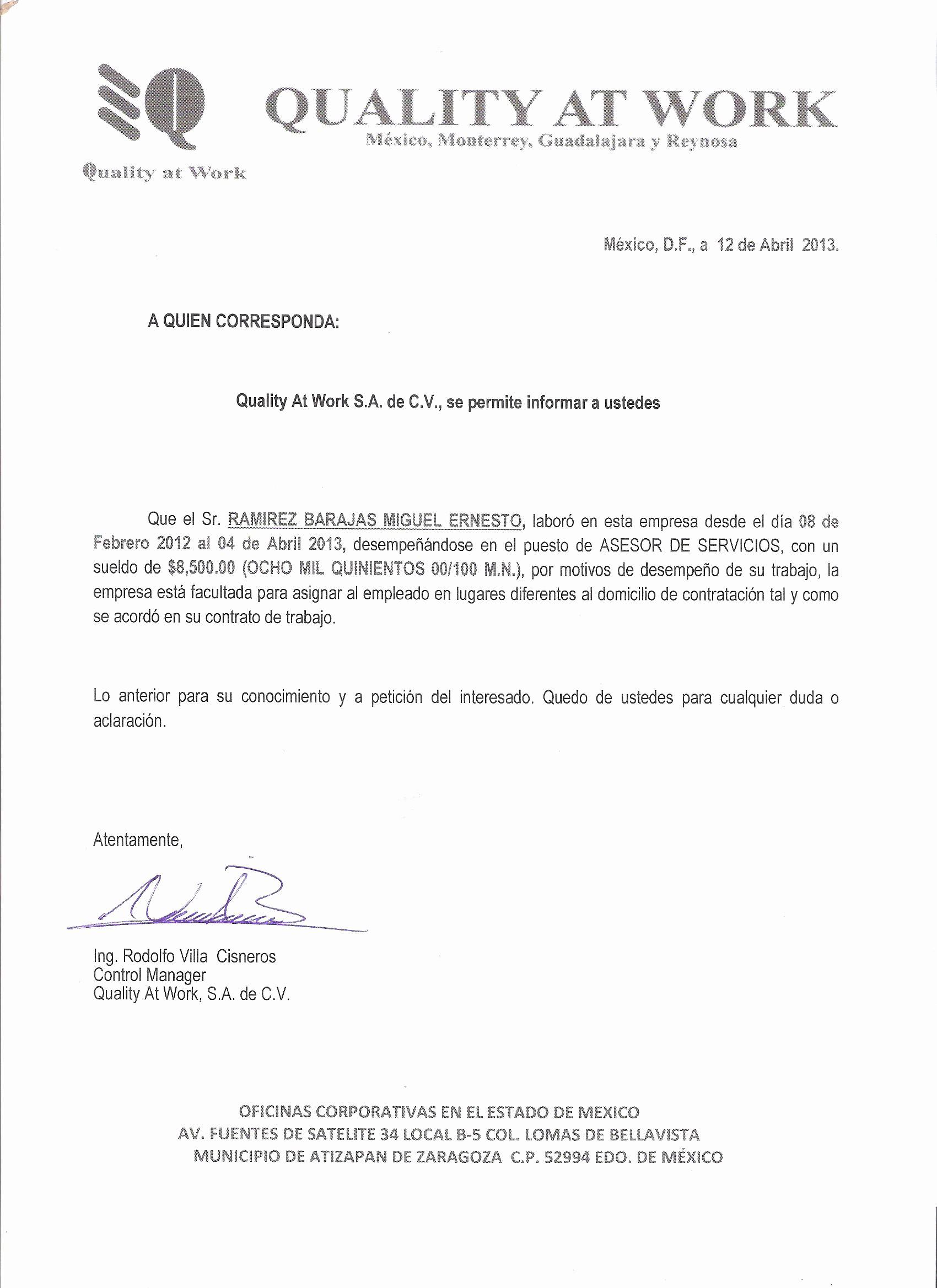 Carta De Recomendacion Para Trabajo Lovely Perfil De Miguelrb Portfolio Presentación Carta De