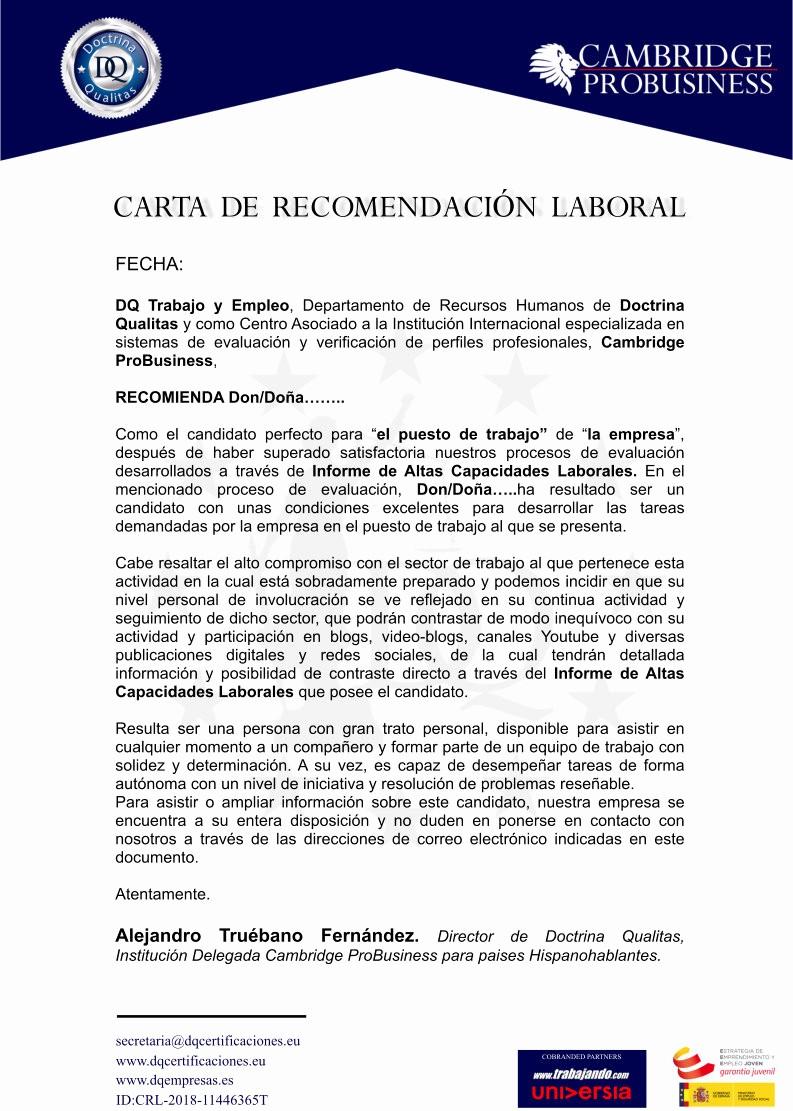 Carta De Recomendacion Para Trabajo Luxury Buscar Trabajo Y Encontrar Empleo Con Dq