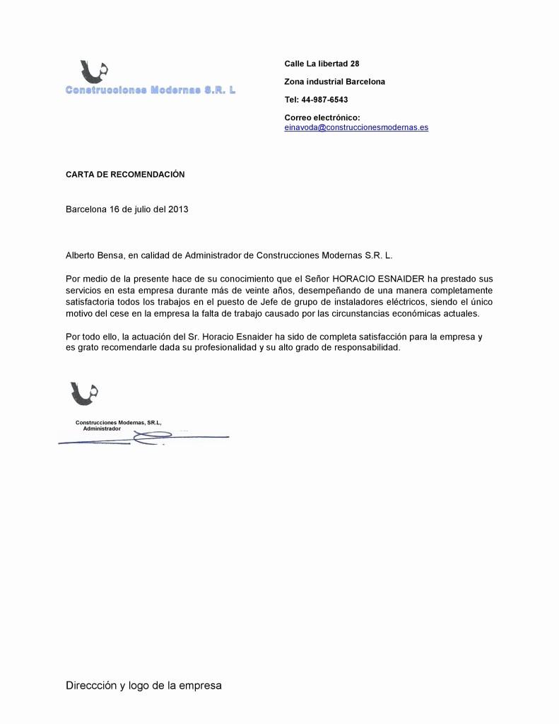 Carta De Recomendacion Para Trabajo New Imágenes De Carta De Re Endación