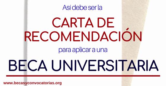 Carta De Recomendacion Para Universidad Awesome as Debe Ser La Carta De Re Endación Para Postular A Una