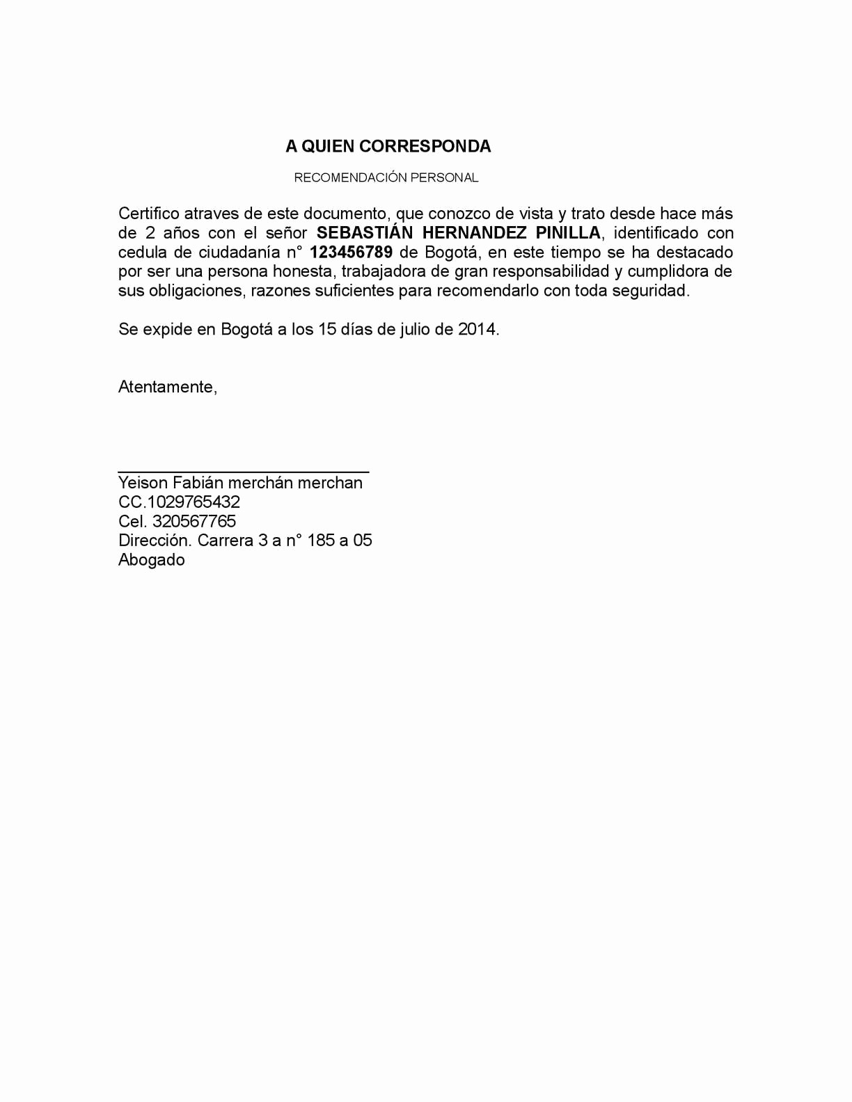 Carta De Recomendacion Para Universidad Beautiful Calaméo Referencia Personal