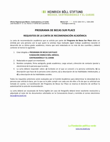 Carta De Recomendacion Para Universidad Best Of Carta De Re Endacion Academica Baskanai