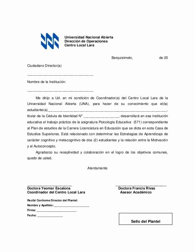 Carta De Recomendacion Para Universidad Elegant Cartas 571 Pdf
