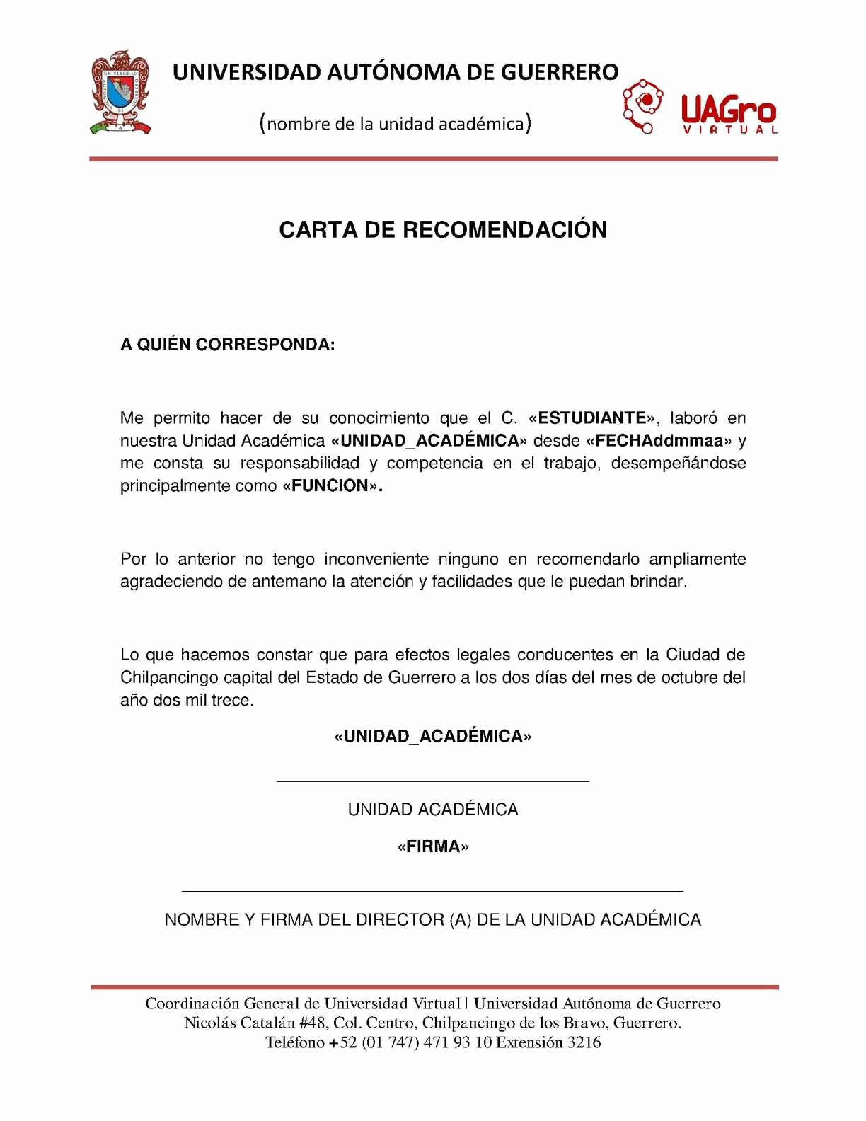 Carta De Recomendacion Para Universidad Fresh Calaméo Mtic Eje 3 Tema 6 Carta