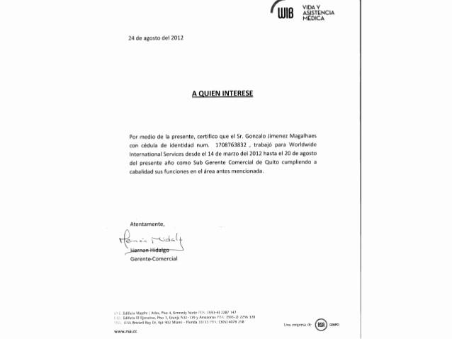 Carta De Recomendacion Personal Ejemplo Luxury Re Endacion Laboral Rsa Wib