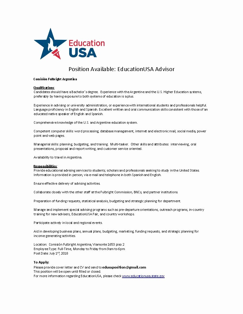 "Carta Dirigida A Una Autoridad Awesome isión Fulbright On Twitter ""oportunidad Laboral"