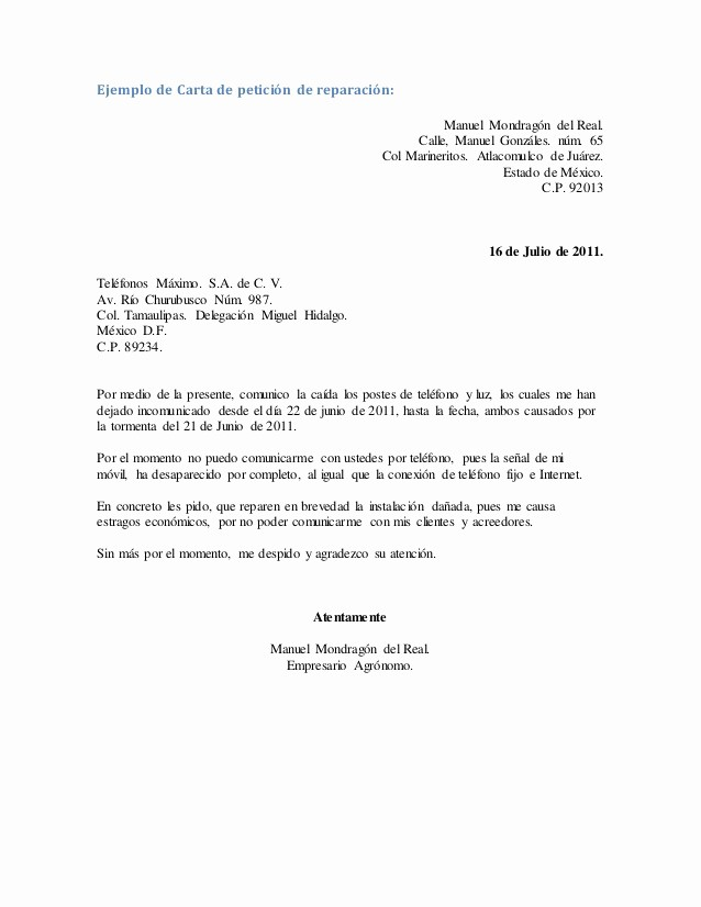Carta Dirigida A Una Autoridad Best Of Carta De solicitud O Peticion