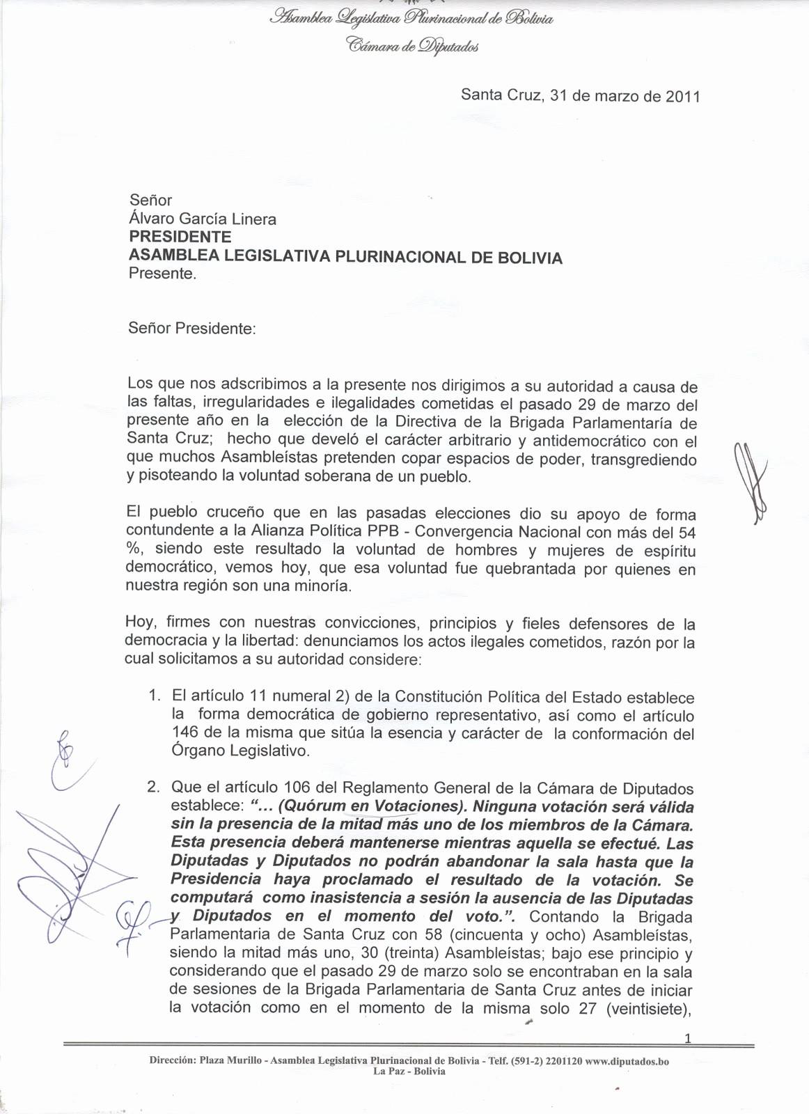 Carta Dirigida A Una Autoridad Best Of Convergencia Carta De Impugnación A Elección En La