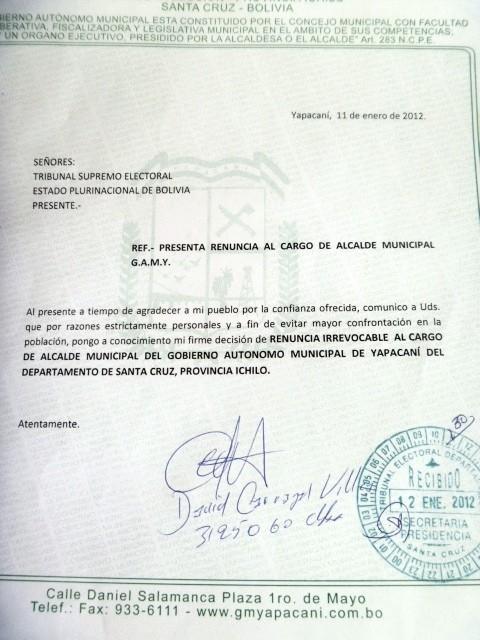 Carta Dirigida A Una Autoridad Best Of Yapacan Concejo Deberá Aceptar Renuncia Del Alcalde Para