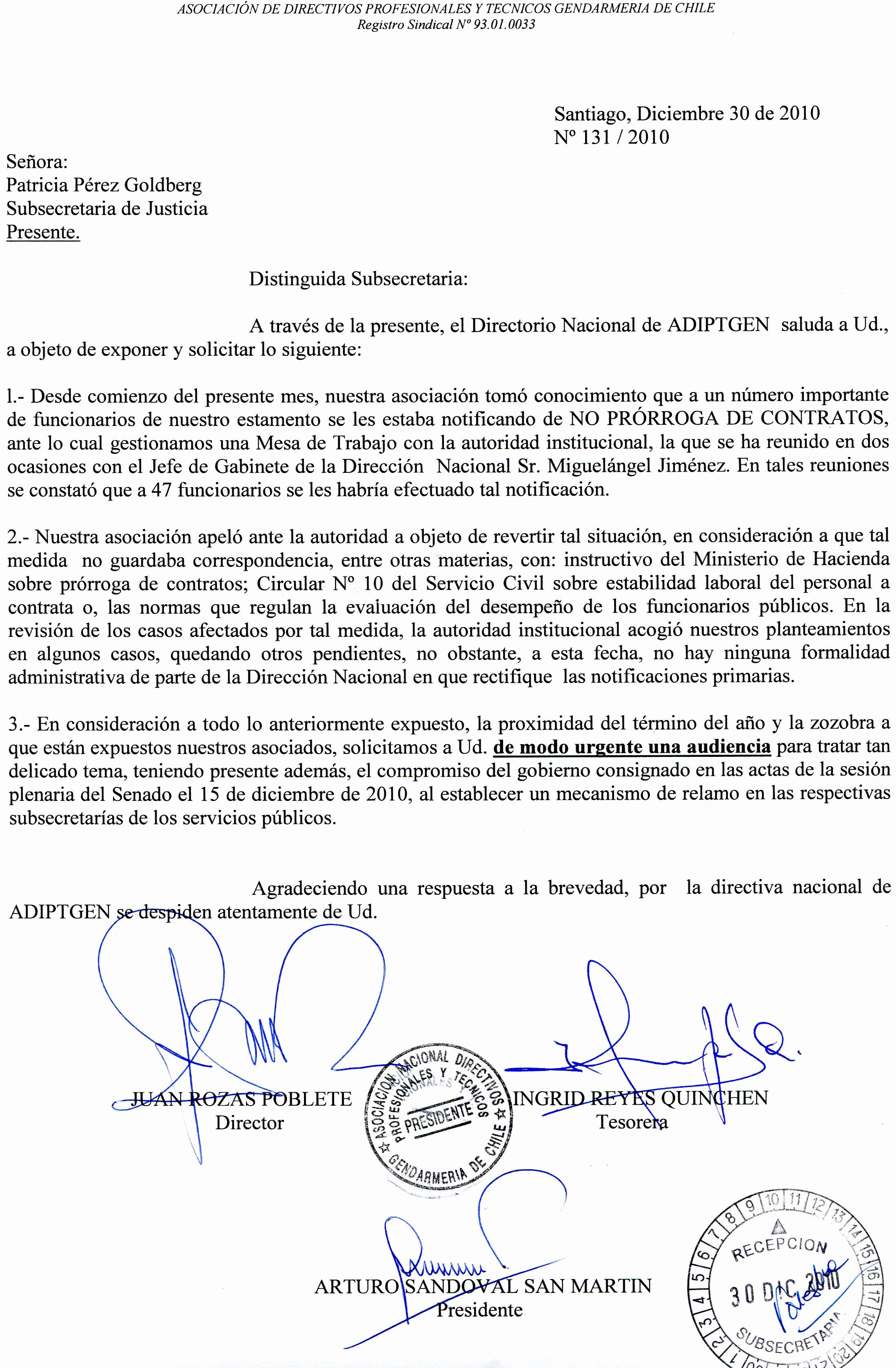 Carta Dirigida A Una Autoridad Elegant A D I P T G E N