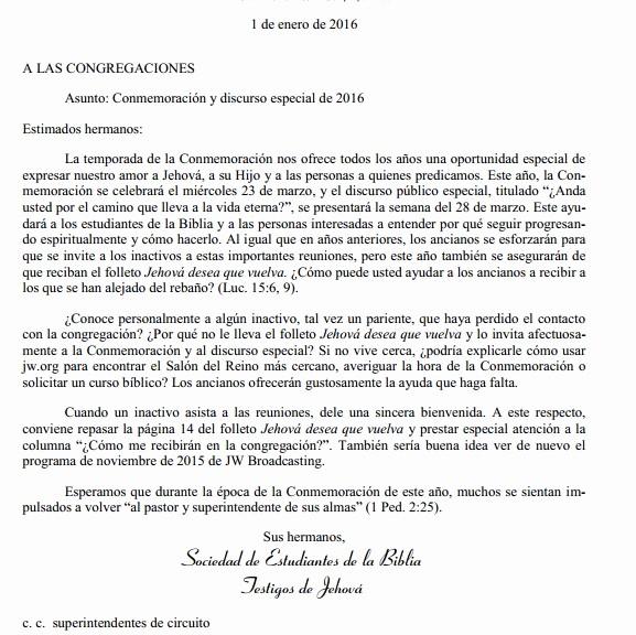 Carta Dirigida A Una Autoridad Inspirational Cartas Jw Tengan Presente En Esta Carta La Invitación A