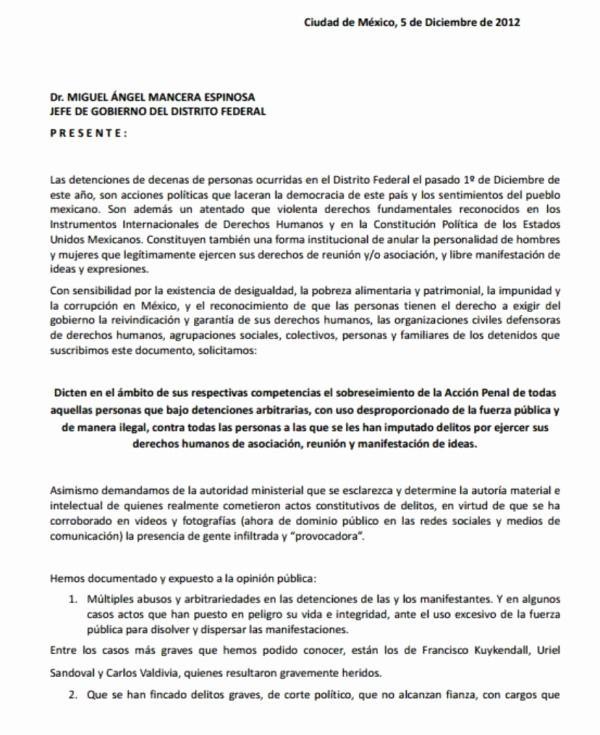 Carta Dirigida A Una Autoridad Luxury Carta De Petición De sobreseimiento Dirigida A Miguel