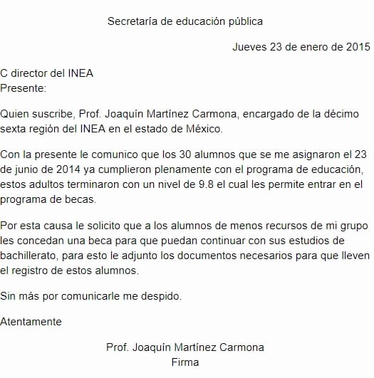 Carta Dirigida A Una Autoridad Unique Carta formal Para Un Director De Empresa Escuela Y General