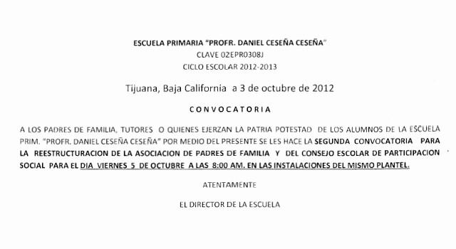 Carta Dirigida A Una Autoridad Unique Ité De Padres De Familia De La Escuela Primaria Daniel
