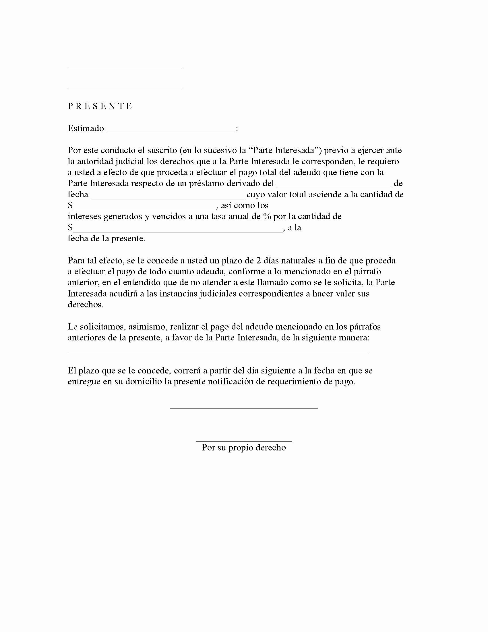 Carta Para Cobrar Una Deuda Beautiful Carta formal De Reclamo De Pago Apanageet