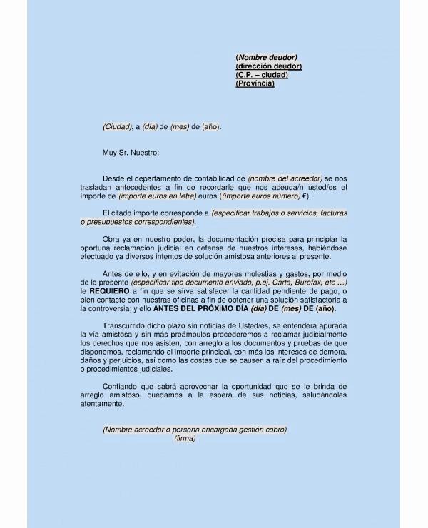 Carta Para Cobrar Una Deuda Best Of Carta Para Cobrar Una Deuda Ejemplo De Cartas De Cobranza