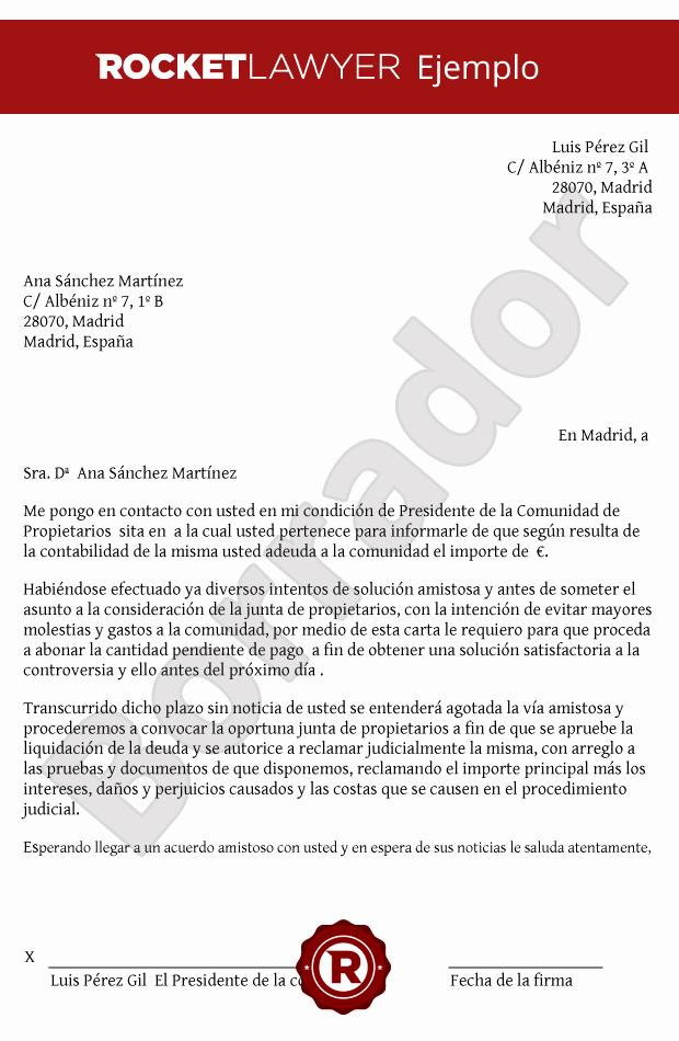 Carta Para Cobrar Una Deuda Best Of Carta Para Cobrar Una Deuda theminecraftserver