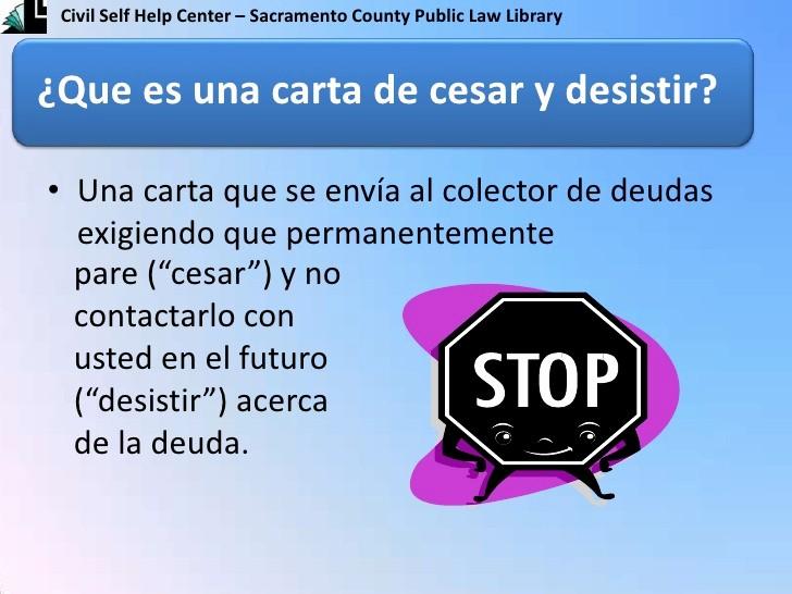 Carta Para Cobrar Una Deuda Fresh Carta De Cesar Y Desistir Cease and Desist Letter
