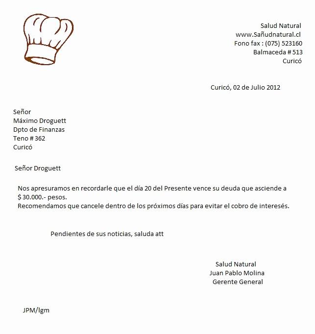 Carta Para Cobrar Una Deuda Inspirational Carta Para Cobrar Una Deuda theminecraftserver