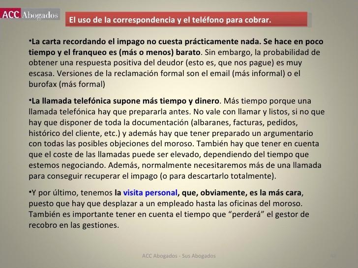 Carta Para Cobrar Una Deuda New Curso De Gestión De Cobros Acc