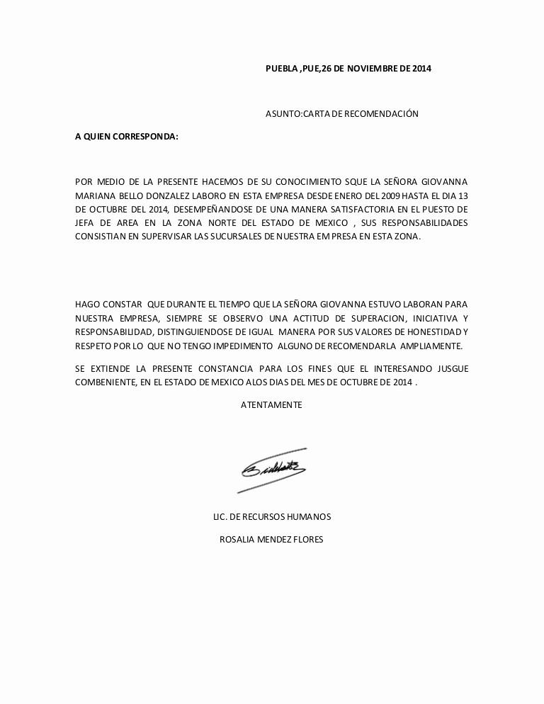 Cartas De Recomendacion Personales Ejemplos Inspirational Carta De Re Endacion