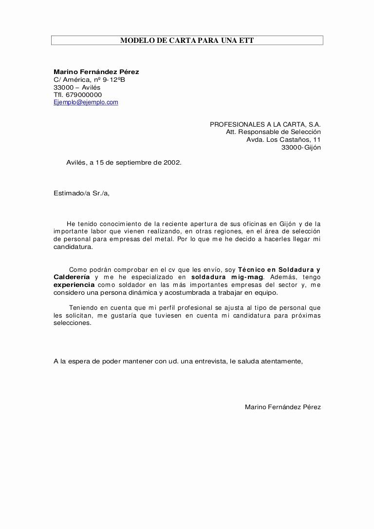 Cartas De Recomendacion Personales Ejemplos Luxury Carta Para Ett