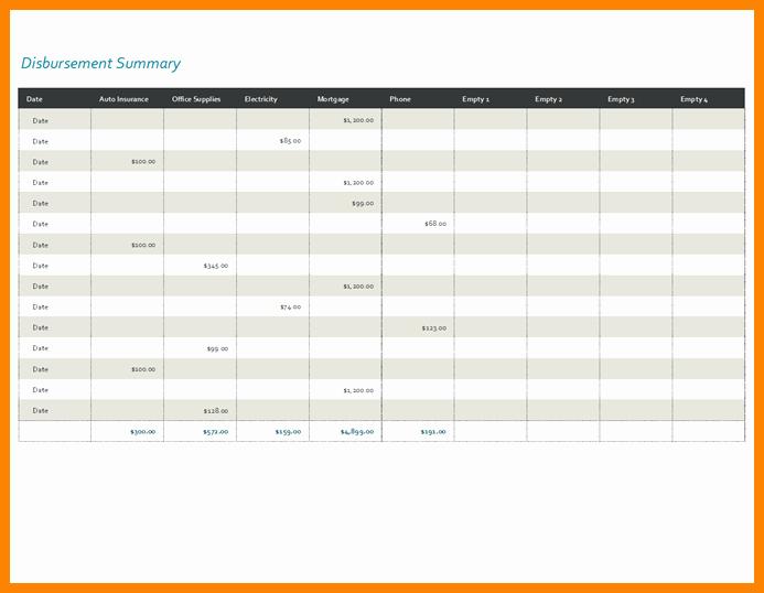 Cash Disbursement Journal Template Excel Awesome 5 Cash Disbursement Journal