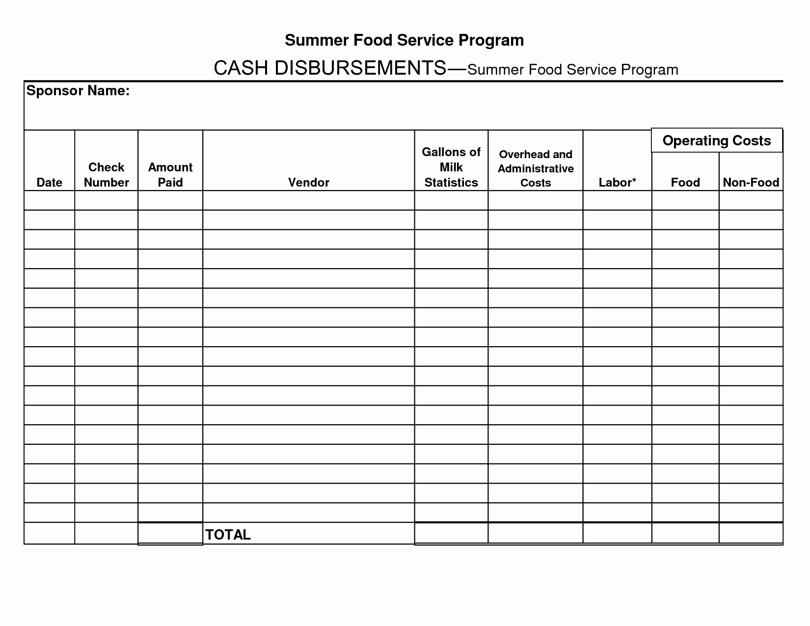 Cash Disbursement Journal Template Excel Best Of 6 Best Of Cash Receipts Journal Template Cash