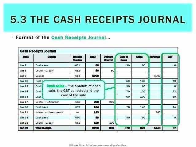 Cash Disbursement Journal Template Excel Fresh Cash Receipts and Disbursements Excel Template 24 Images