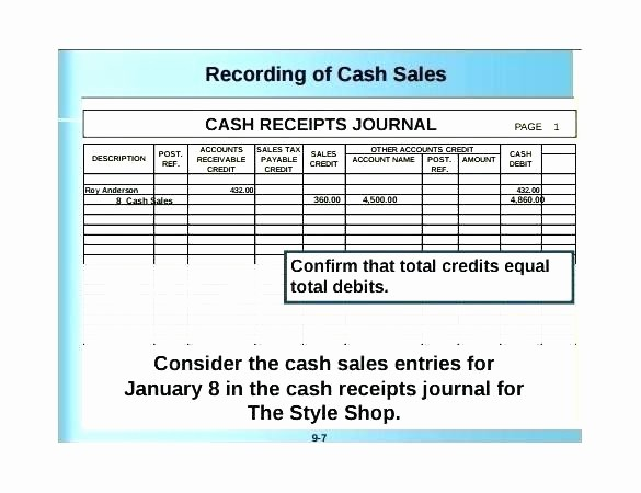 Cash Disbursement Journal Template Excel Luxury Cash Receipts Journal Example Bir Cash Receipts Journal