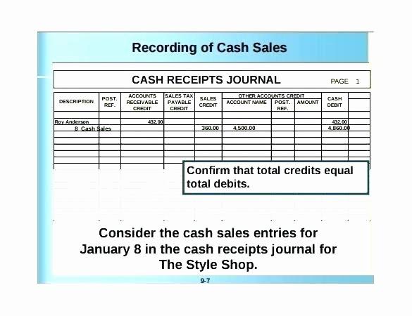 Cash Disbursement Journal Template Excel Luxury Cash Receipts Journal Example Bir Cash Receipts Journal