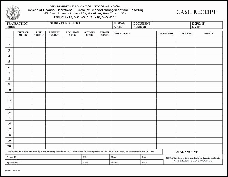 Cash Disbursement Journal Template Excel Unique Cash Receipt Journal Template Receipts for Payment Samples