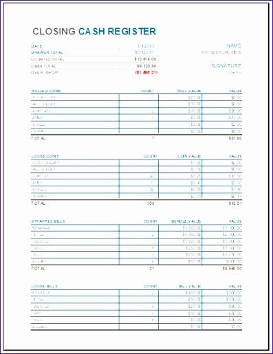 Cash Drawer Balance Sheet Template Inspirational 9 Cashier Balance Sheet Exceltemplates Exceltemplates