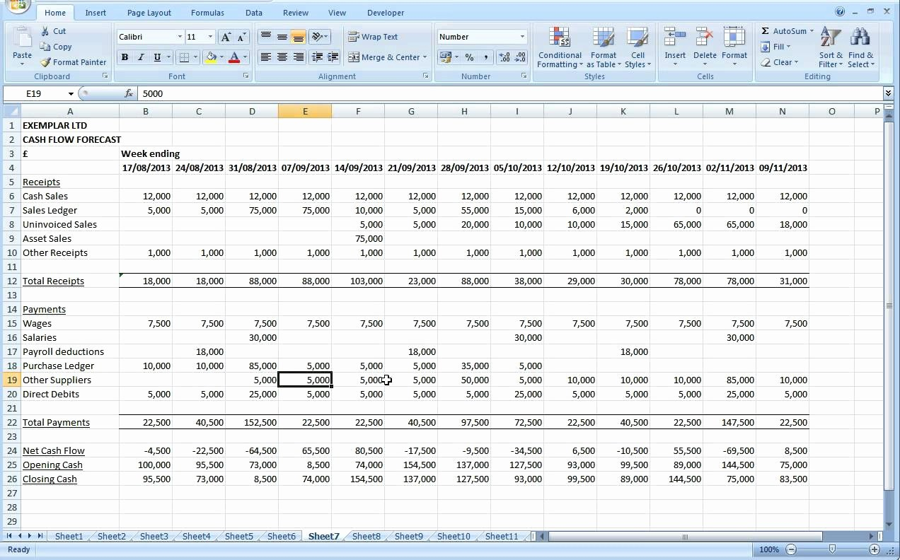 Cash Flow Analysis Example Excel Beautiful Cash Flow Excel Spreadsheet Template Spreadsheet Templates