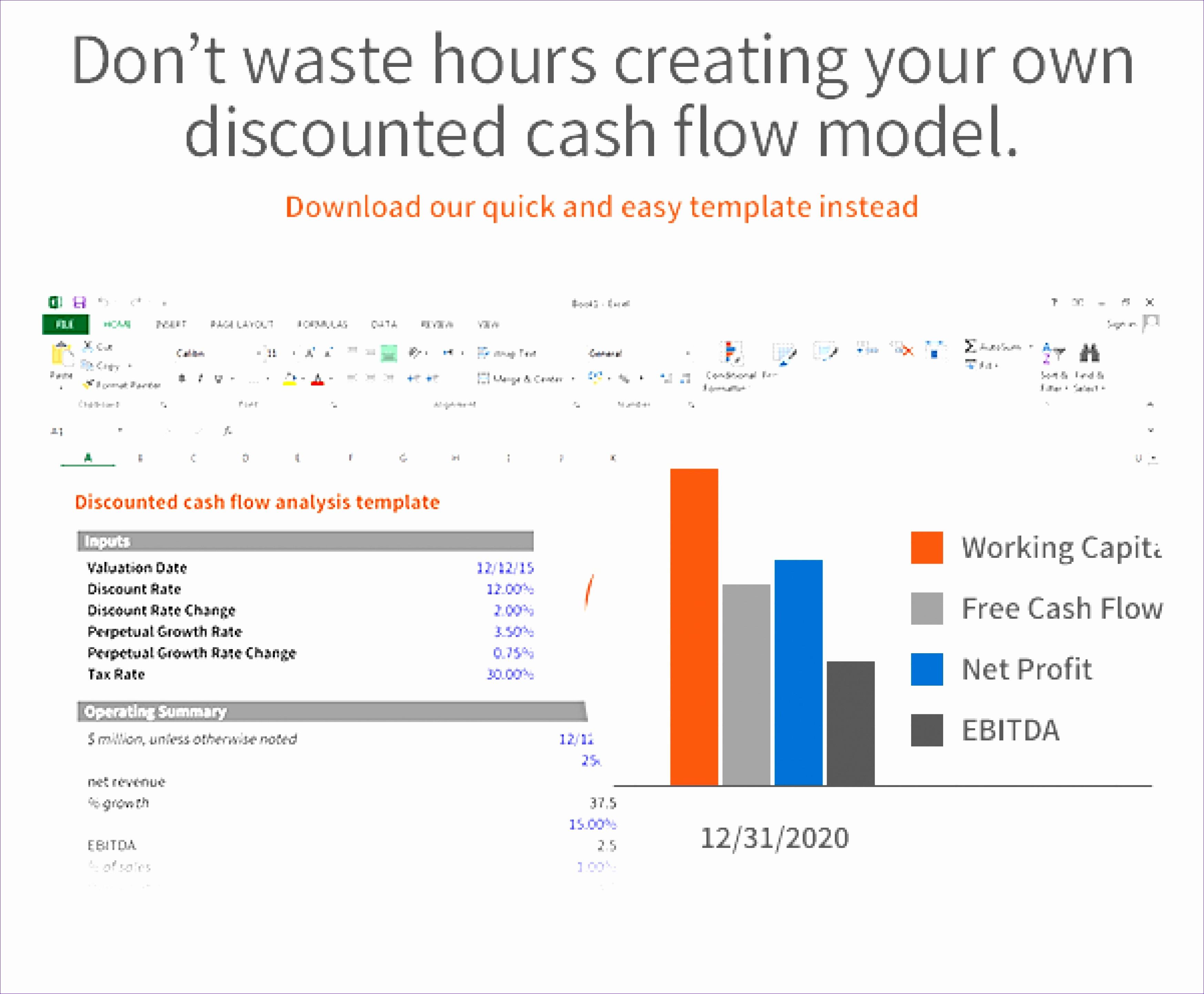 Cash Flow Analysis Example Excel Elegant 11 Cash Flow Analysis Excel Template Exceltemplates
