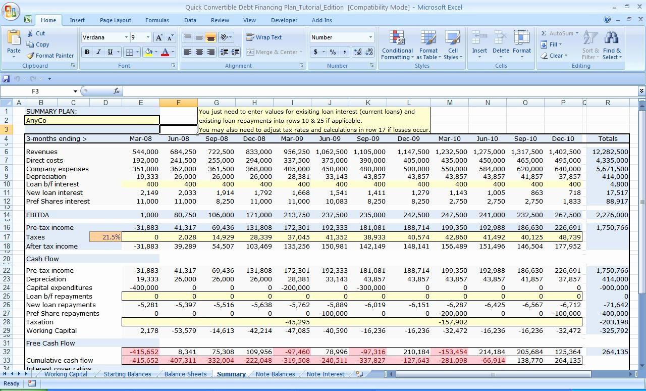 Cash Flow Analysis Example Excel New Cash Flow Excel Spreadsheet Template Spreadsheet Templates