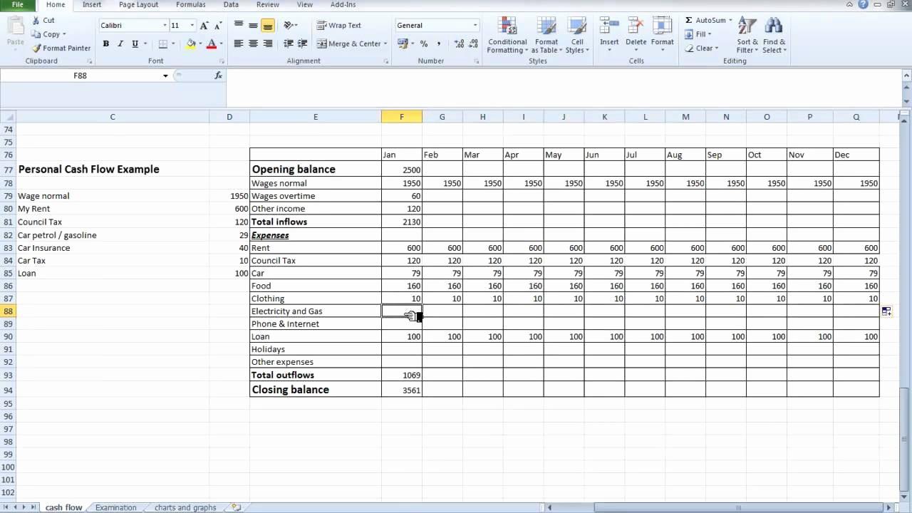 Cash Flow Budget Template Excel New Cash Flow Excel Spreadsheet Template Microsoft Spreadsheet