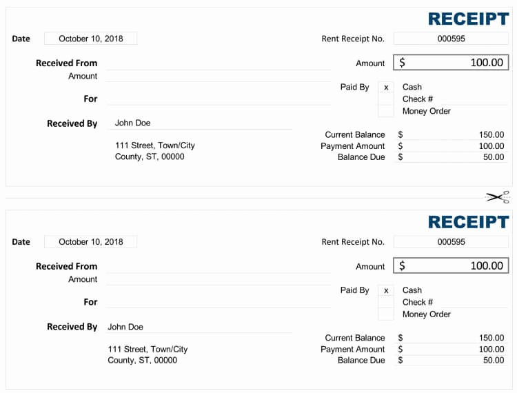 Cash Receipt format In Excel Awesome 21 Free Cash Receipt Templates for Word Excel and Pdf