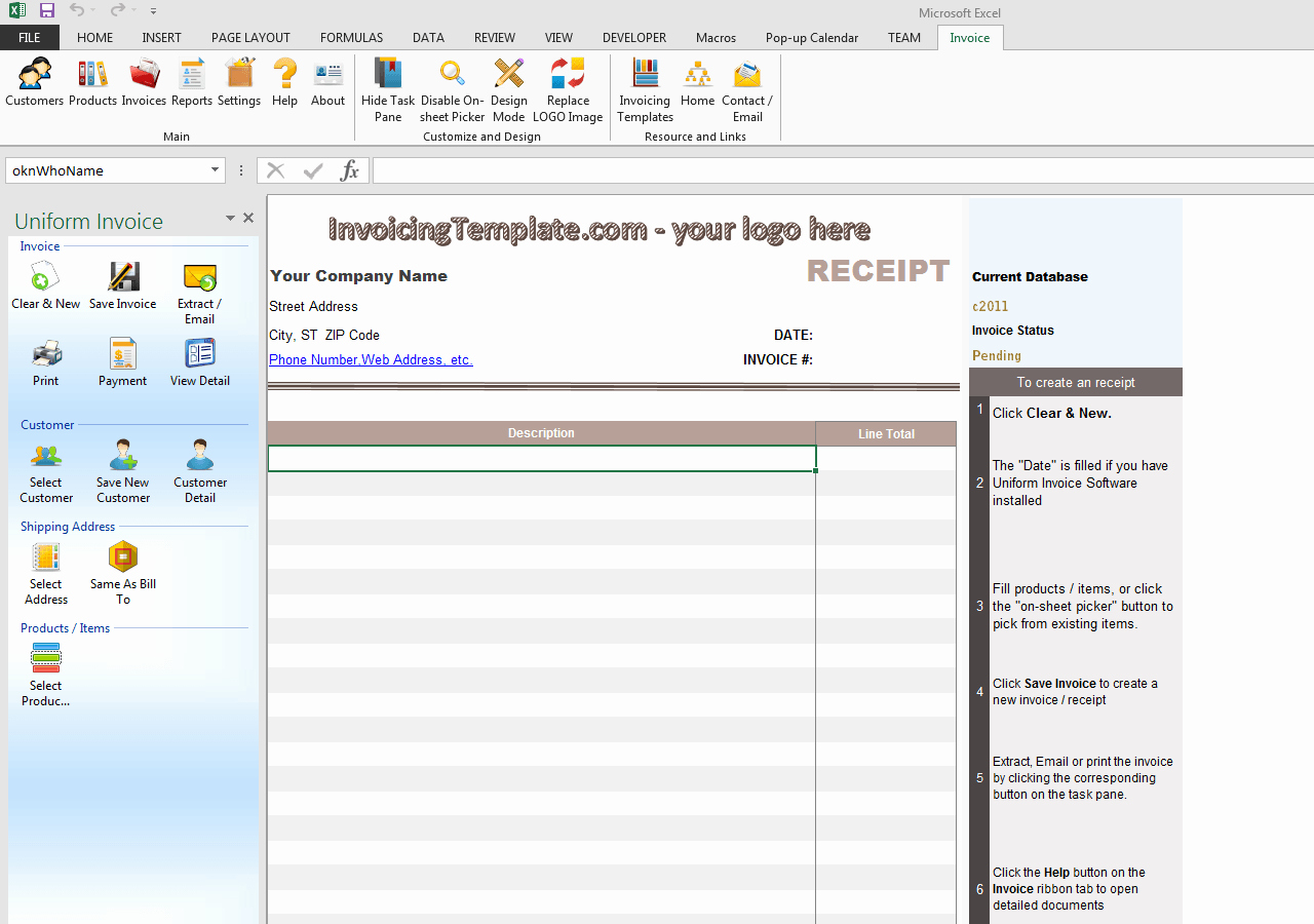 Cash Receipt format In Excel Awesome Blank Cash Receipt Free Invoice Templates for Excel Pdf