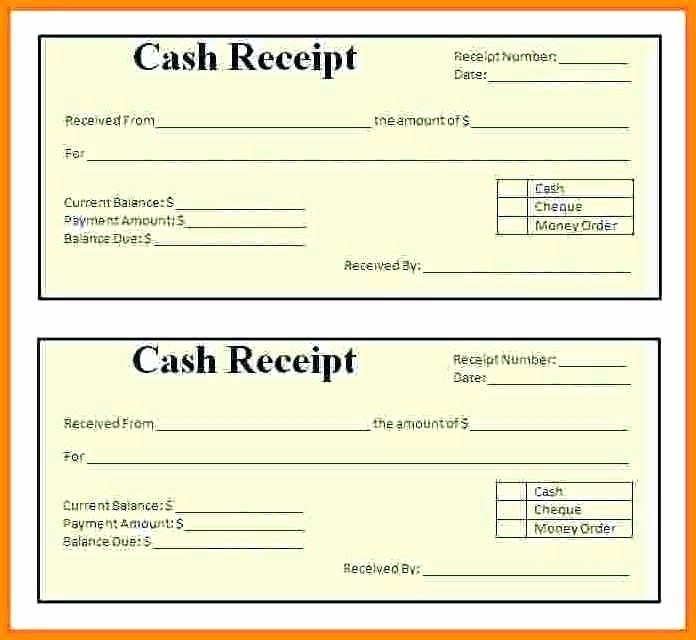 Cash Receipt format In Excel Best Of Cash Receipt format In Template Excel Payment Word Petty