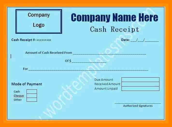 Cash Receipt format In Excel Best Of Free Download Receipt format In Excel Picture – 17 Medical