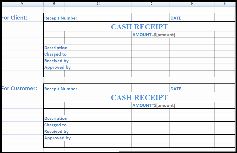 """Cash Receipt format In Excel Elegant Search Results for """"printable Cash Receipt Template"""