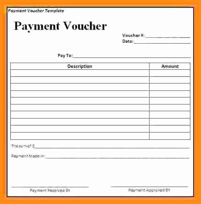 Cash Receipt format In Excel Inspirational 9 Payment Voucher Template