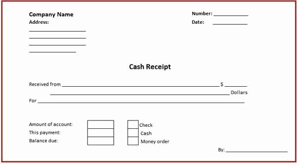 Cash Receipt format In Excel Inspirational Business Cash Receipt Template is Created In format that