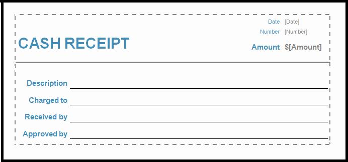 Cash Receipt format In Excel Lovely Cash Receipt Template