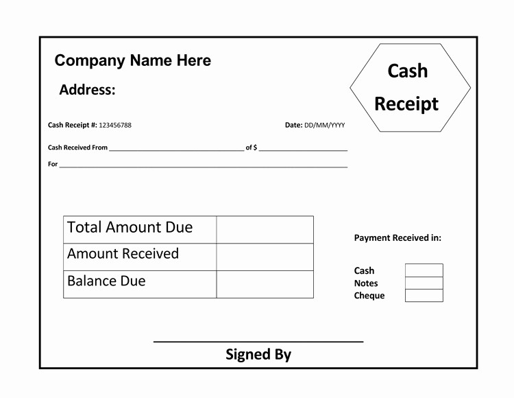 Cash Receipt format In Excel New 17 Free Cash Receipt Templates for Excel Word and Pdf