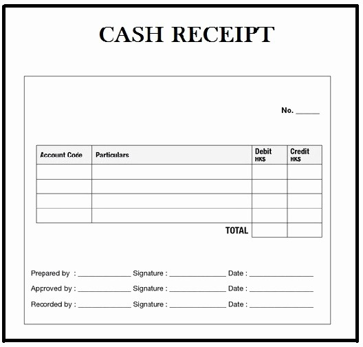 Cash Receipt format In Excel New Customizable Cash Receipt Template In Word Excel and Pdf